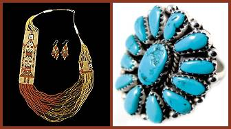 Native American Jewelry Indian silver turquoise and beaded