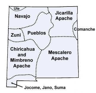 New Mexico Indian Tribes Map